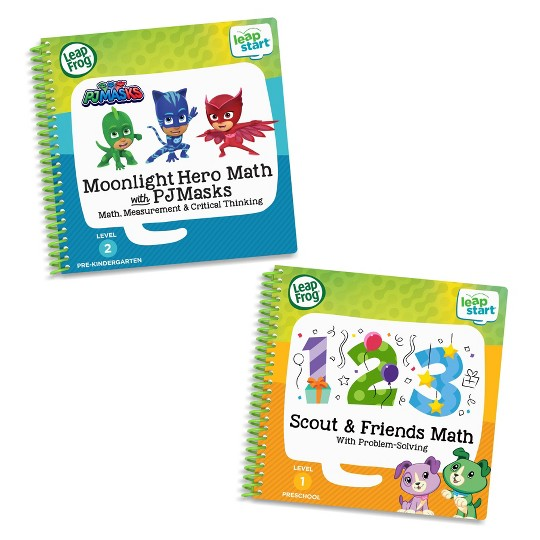 LeapFrog LeapStart 2 Book Combo Pack: Moonlight Hero Math with PJ Masks and Scout And Friends image number null