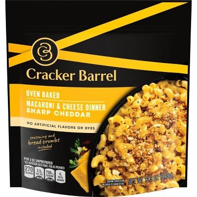 Cracker Barrel Oven Baked Macaroni & Cheese Dinner Sharp Cheddar - 12.3oz