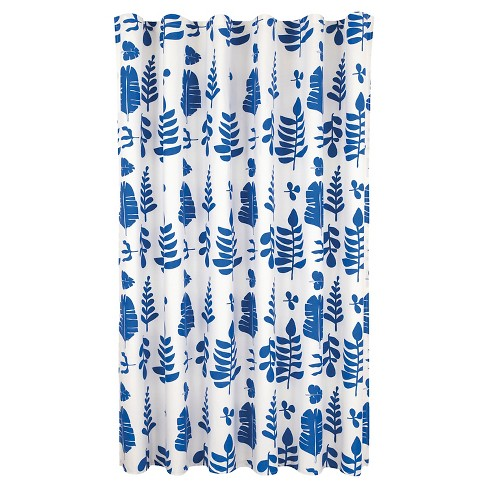 Leaves Shower Curtain Blue - Room Essentials™ - image 1 of 1