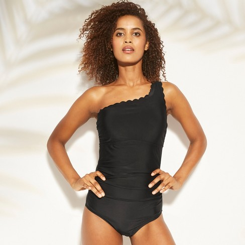 d04a742ddec Women's Shirred Scallop One Shoulder One Piece Swimsuit - Kona Sol™. Shop  all Kona Sol