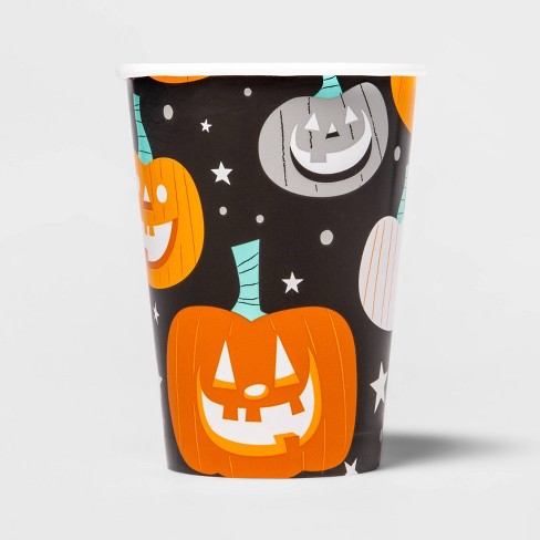 10ct Halloween Pumpkin Disposable Cup - 12 fl oz - Hyde & EEK! Boutique™ - image 1 of 2