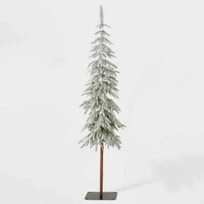 6ft Unlit Downswept Flocked Alpine Balsam Artificial Christmas Tree - Wondershop™