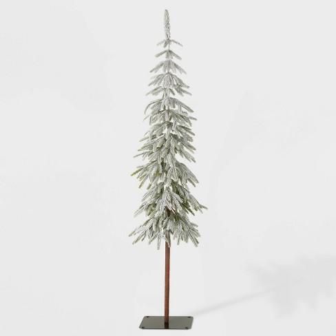 6ft Unlit Downswept Flocked Alpine Balsam Artificial Christmas Tree - Wondershop™ - image 1 of 2