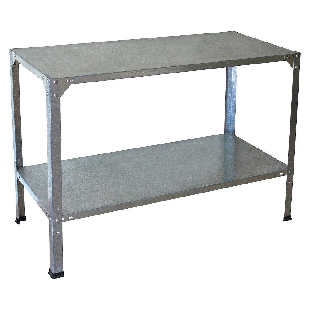 Image of Steel Work Bench For Greenhouses - Silver - Palram