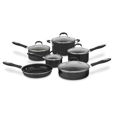 Cuisinart® Advantage Nonstick 11 Piece Cookware Set w/cover - Black 55-11BK