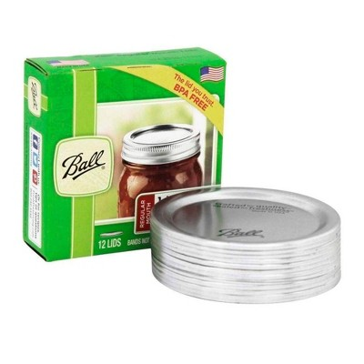 Ball 12pk Regular Mouth Lids With Out Bands