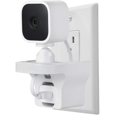 Wasserstein AC Outlet Mount Compatible with Blink Mini Home Security Camera (White)