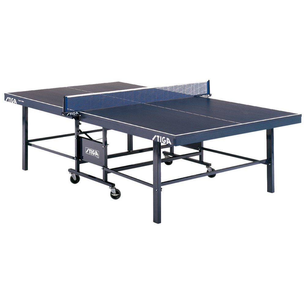 Stiga Expert Roller Table Tennis Game Table, Blue