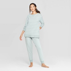 Women's Striped Beautifully Soft Fleece Lounge Tunic Sweatshirt-Stars Above™