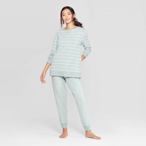 Women's Striped Beautifully Soft Fleece Lounge Tunic Sweatshirt-Stars Above™ - image 1 of 2