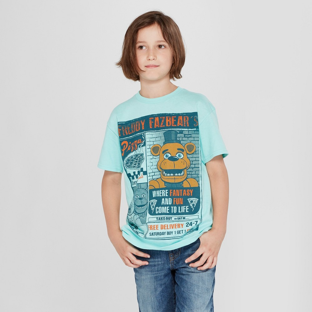 Boys' Five Nights at Freddy's Pizza Delivery Short Sleeve Graphic T-Shirt - Green S
