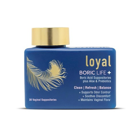 Loyal Boric Life Plus Boric Acid with Aloe & FOS Suppositories - 30ct - image 1 of 4