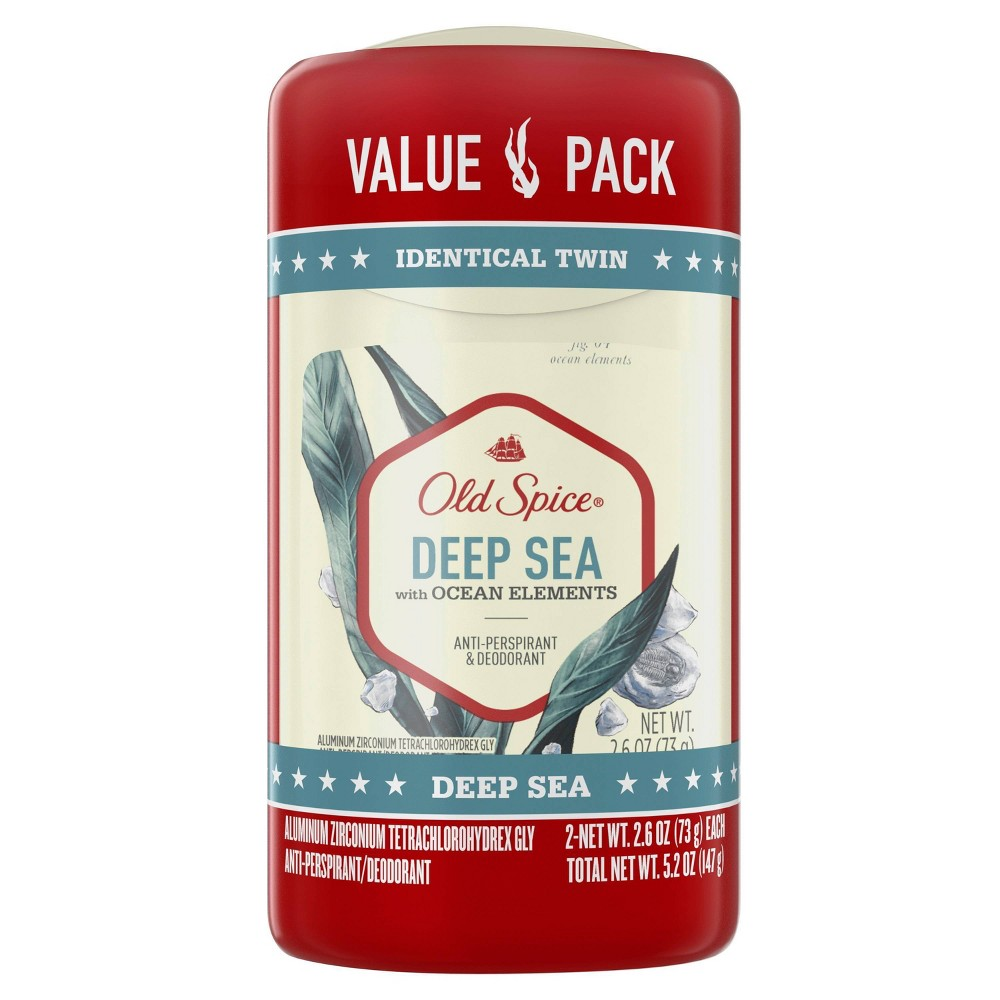 Image of Old Spice Deep Sea Fresher Collection Deodorant Twin Pack - 2.6oz