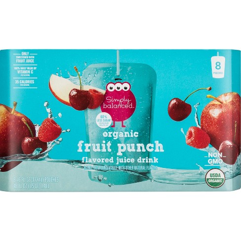 Organic Fruit Punch Juice Beverage Blend - 8pk/6 fl oz Pouches - Simply Balanced™ - image 1 of 1