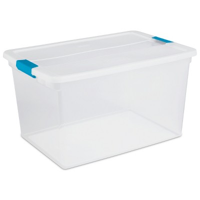 Sterilite 66 Qt ClearView Latch Box Clear with Blue Latches