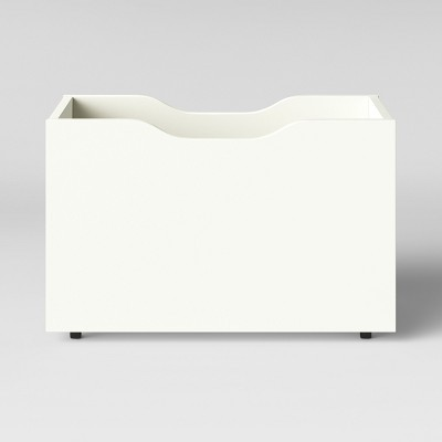 Rolling Storage Chest With Chalkboard Side White - Pillowfort™