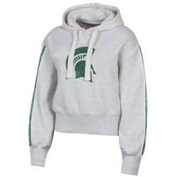 NCAA Michigan State Spartans Women's Long Sleeve Crop Hoodie