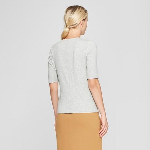 56008ff0566b60 Women s Short Elbow Sleeve T-Shirt - Who What Wear™   Target