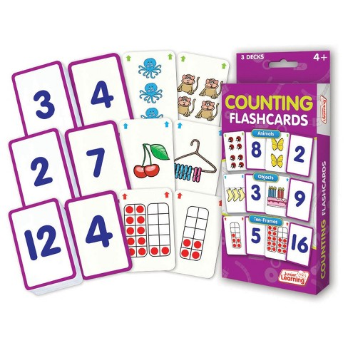 Junior Learning® Counting Flashcards - Animals, Objects & Ten-Frames ...