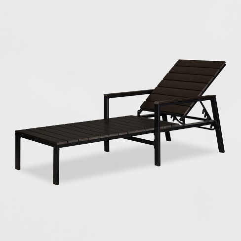 Bryant Patio Chaise Lounge Black - Threshold™ - image 1 of 6