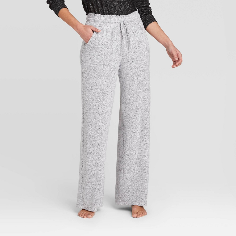 Womens Perfectly Cozy Wide Leg Lounge Pants - Stars Above Light Gray XL Price