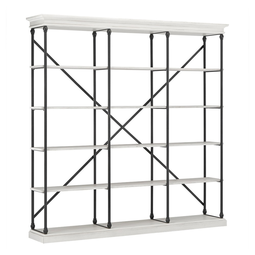 84 Belvidere 5 Shelf Wide Etagere Bookshelf White - Inspire Q
