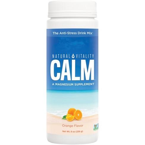 Natural Vitality Natural Calm Anti-Stress Vegan Magnesium Supplement Powder - Orange - 8oz - image 1 of 3