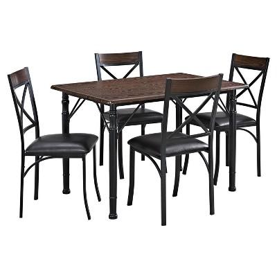 5 Piece Dining Set - Espresso-Black - Dorel Living®