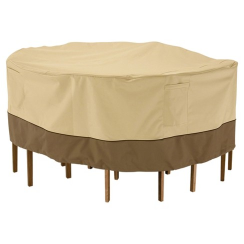 """Veranda Patio Round Table And Chair Cover - 60"""" DIA x 23"""" - Light Pebble - Classic Accessories - image 1 of 4"""