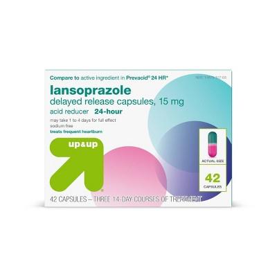 Lansoprazole 15mg Acid Reducer Delayed Release Capsules - up & up™