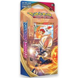 Pokemon Trading Card Game Sword & Shield S1 Theme Deck featuring Cinderace