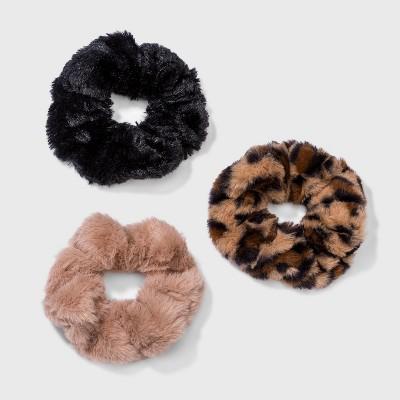 Multi Leopard Print Faux Fur Hair Twister Set 3pc - Wild Fable™