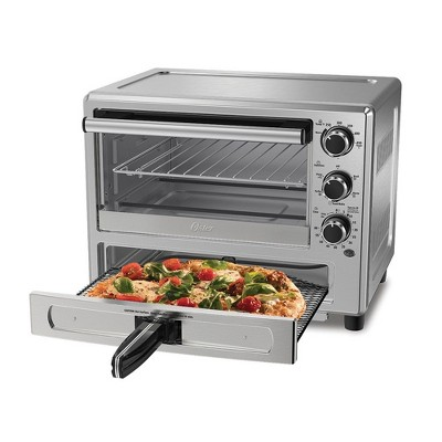 Oster TSSTTVPZDS Innovative Turbo Technology Convection Toaster Oven with Specially Designed 12 Inch Pizza Drawer, Stainless Steel