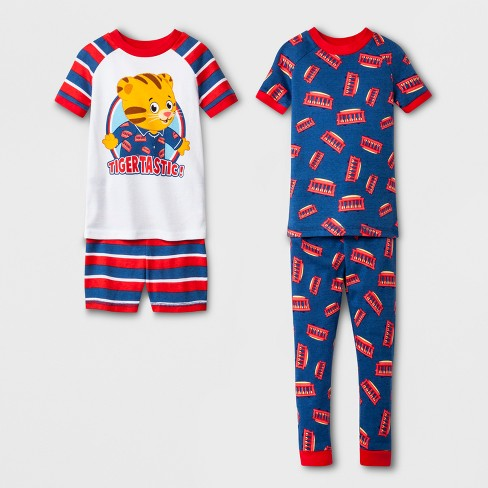 Toddler Boys' Daniel Tiger 4pc Cotton Pajama Set - Navy - image 1 of 1