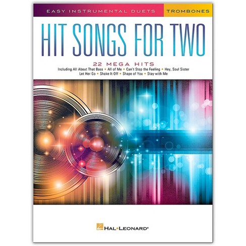 Hal Leonard Hit Songs for Two Trombones - Easy Instrumental Duets - image 1 of 1