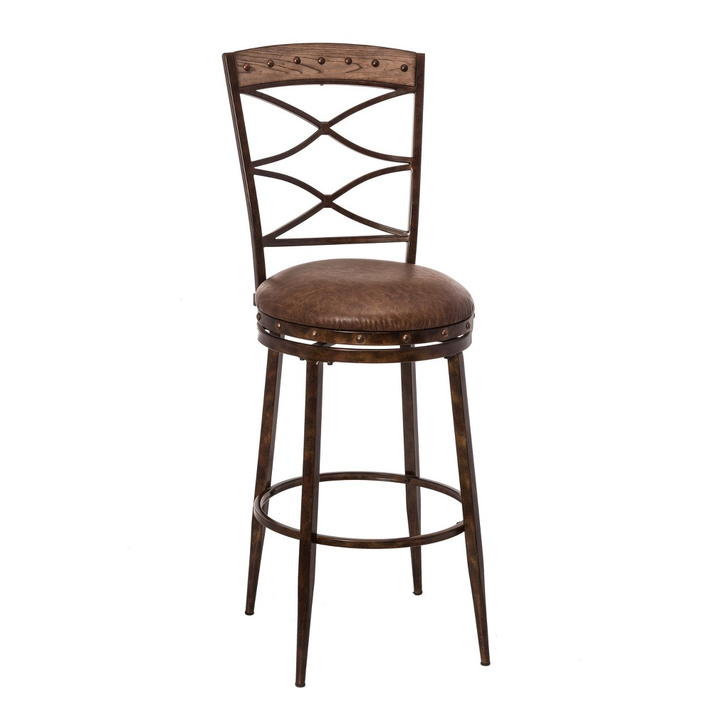 Emmons Barstool - Washed Gray - Hillsdale Furniture, Castle Rock Gray