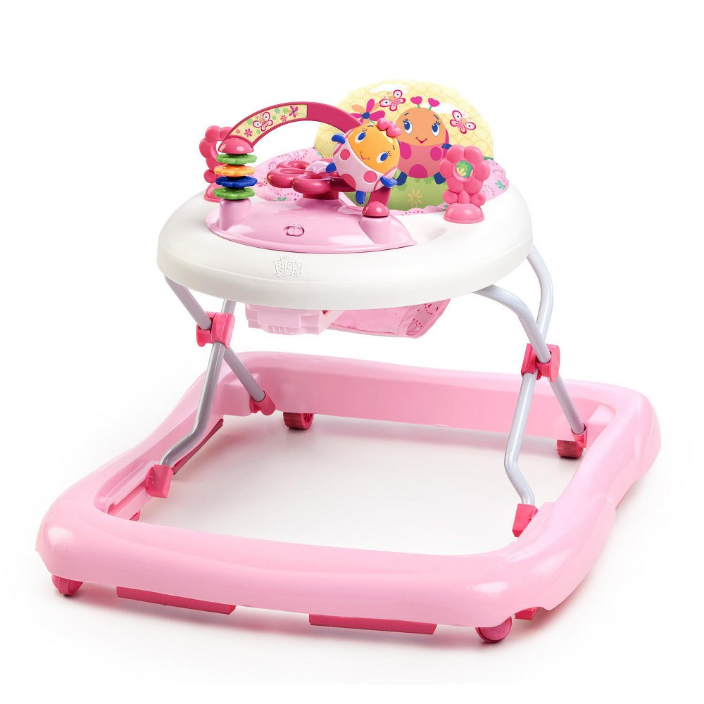 Image of Bright Starts Pretty in Pink Walk-A-Bout Baby Walker - JuneBerry Delight, White Pink