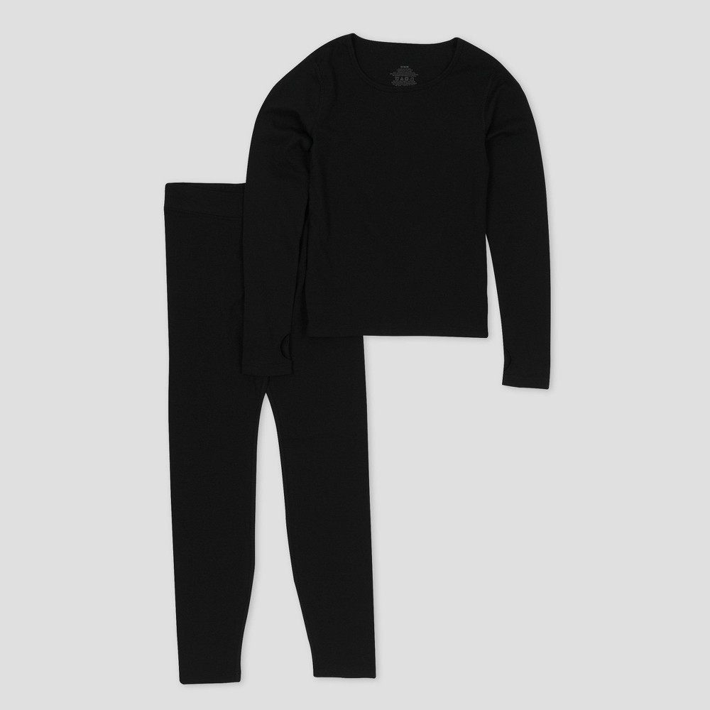 Girls' Performance Thermal Underwear Set – C9 Champion Black S, Girl's, Size: Small