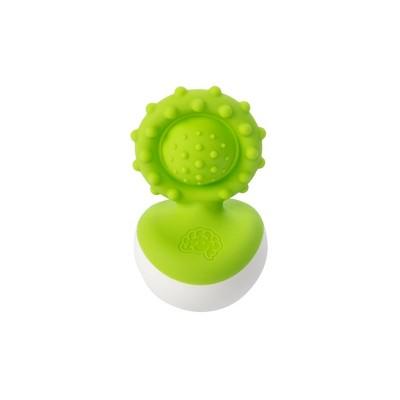 Fat Brain Toys Baby Rattle Dimpl Wobl - Green