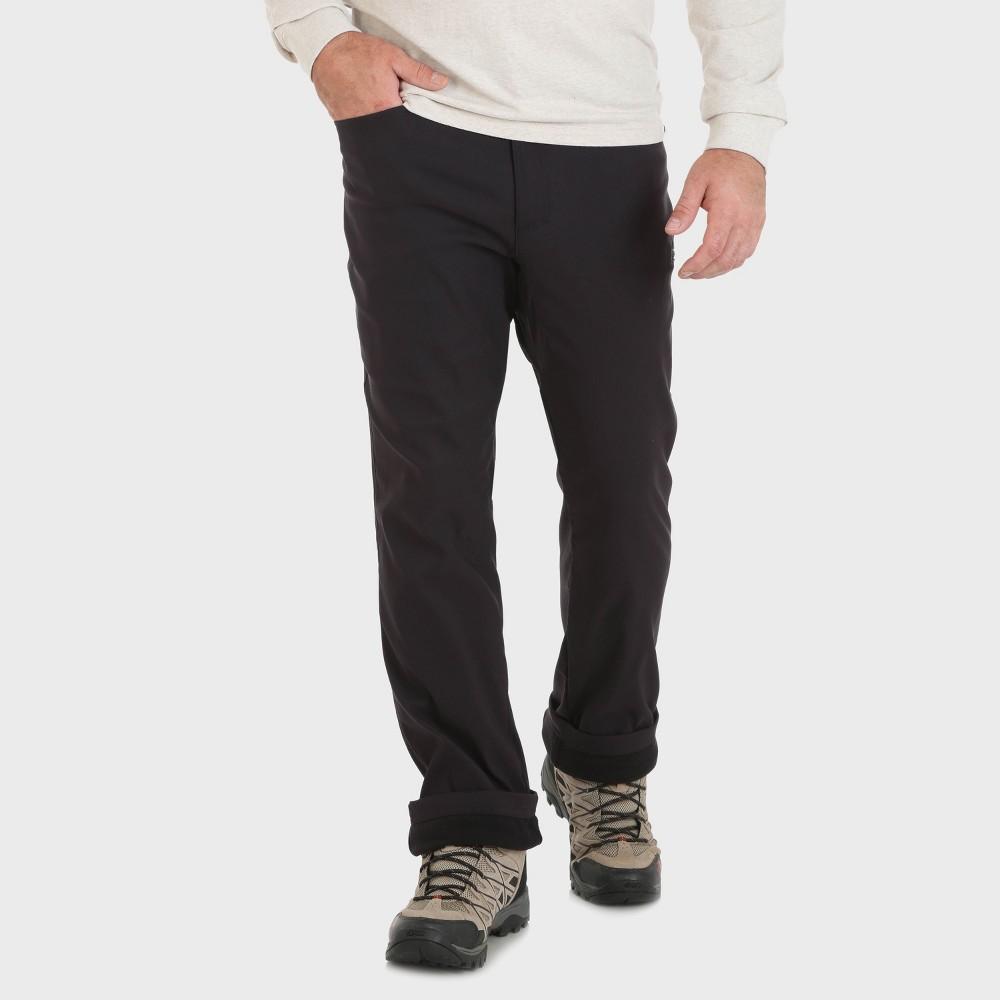 Wrangler Men's Outdoor Fleece Lined Cargo Pants - Black 34x30