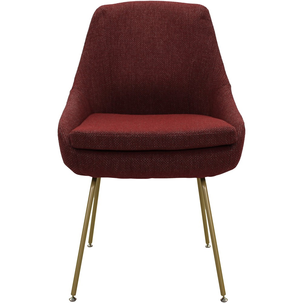 Ennis Stain Resistant Dining Chair Red - Fox Hill Trading