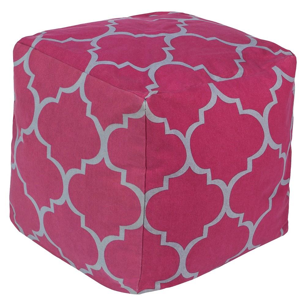 Magenta (Pink) Corbu Geometric Pouf 18x18