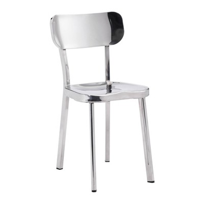 Set of 2 Classic Modern Stainless Steel Dining Chair - ZM Home