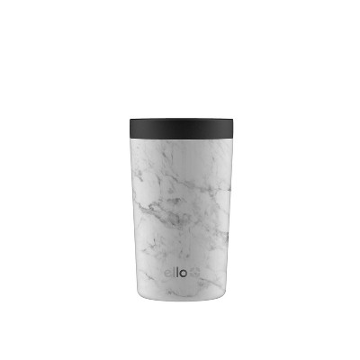 Ello Jones 11oz Vacuum Insulated Stainless Steel Travel Mug White Marble
