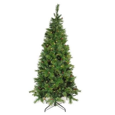 Northlight 7' Prelit Artificial Christmas Tree Slim LED Mount Beacon Pine - Multi Lights