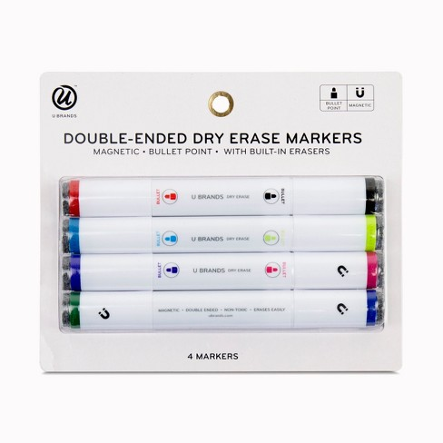 Ubrands® Magnetic Double-Ended Dry Erase Markers 4ct - image 1 of 3