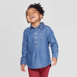 Toddler Girls' Button-Down Shirt - Cat & Jack™ Denim