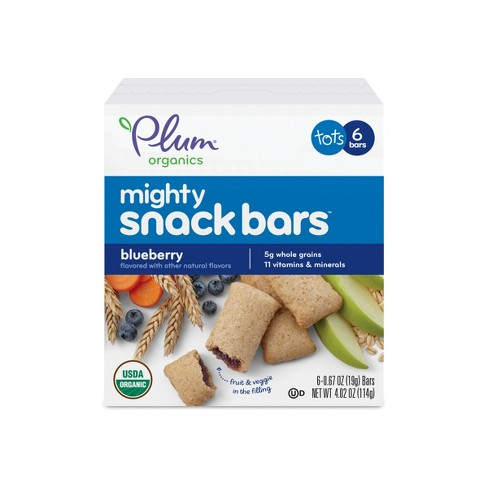 Plum Organics Tots Mighty 4 Cereal Bars Blueberry Carrot 4.02oz 6ct - image 1 of 2
