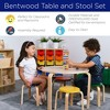 ECR4Kids Bentwood Table and Stool Set for Kids, 5-Piece Set - image 4 of 4