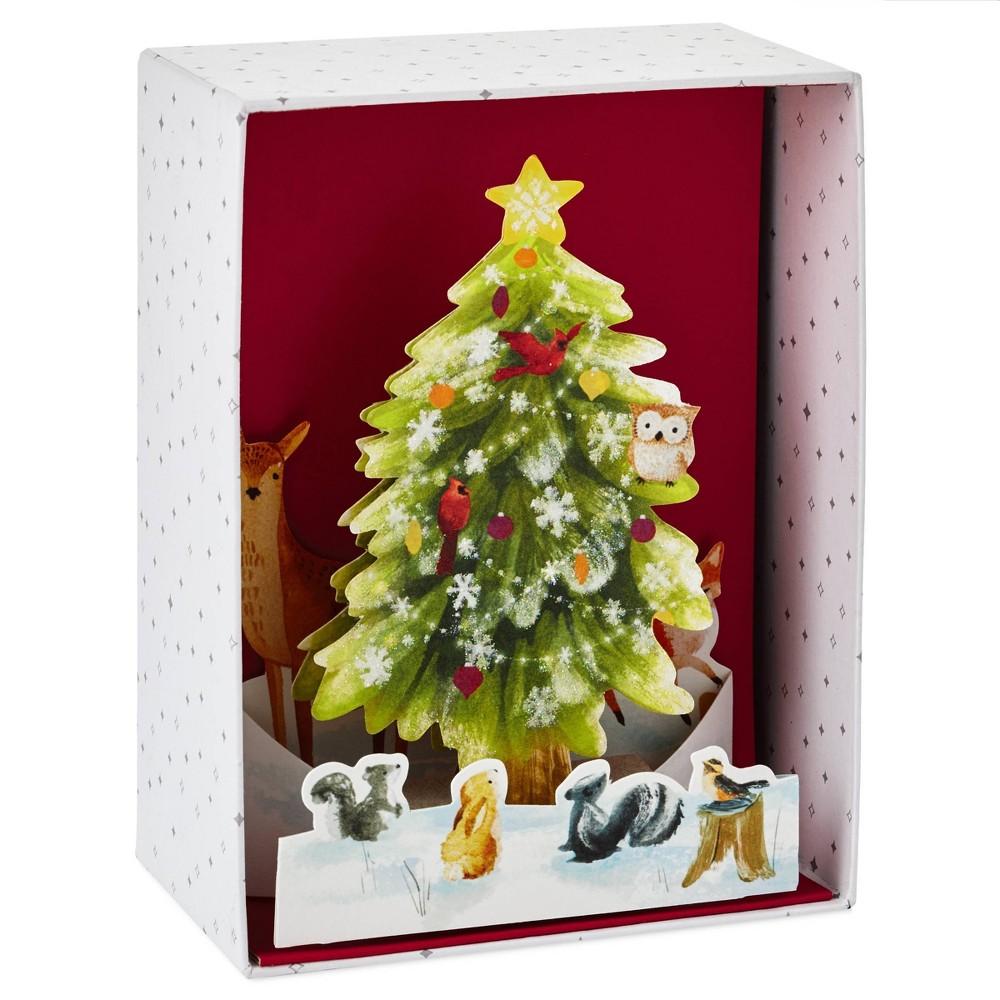 Image of 8ct Hallmark Paper Wonder Pop Up Christmas Tree Greeting Cards